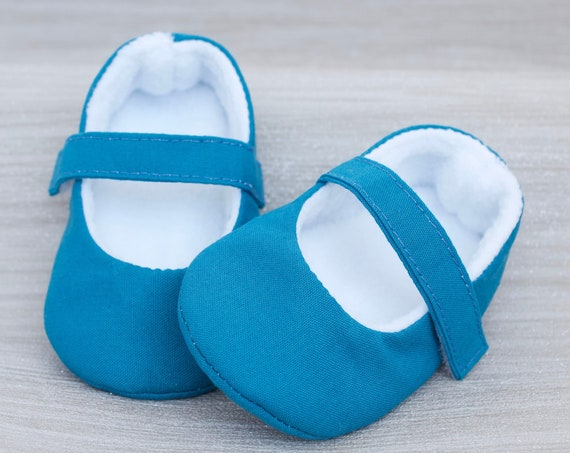 Baby shoes, baby girl shoes, Teal blue shoes, baby Mary Jane, Teal baby shoe, Teal Mary Jane girls shoe.