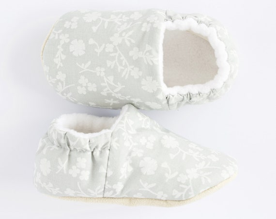 White and grey  Baby girls shoes