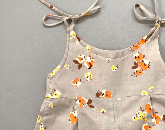 Cotton lawn floral baby jumpsuit, baby all in one, summer baby outfit. baby romper, girls romper. summer romper.