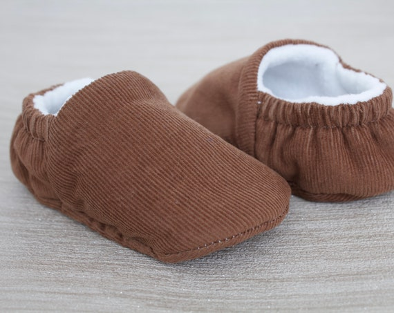 baby shoes, baby boys shoes, baby shoes boys, brown corduroy baby boys shoes, brown baby moccs.