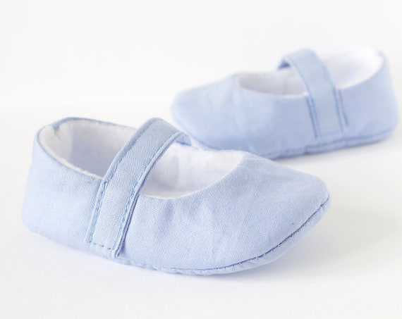 Pale Blue Mary Jane baby girls shoe