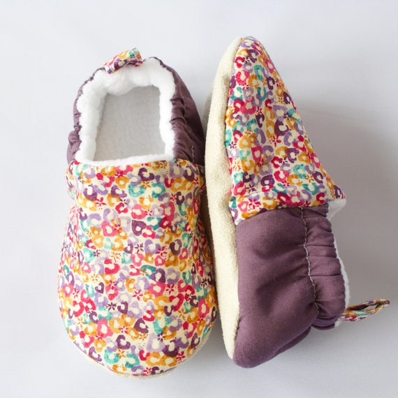 Bright and colourful cotton lawn shoes, for girls