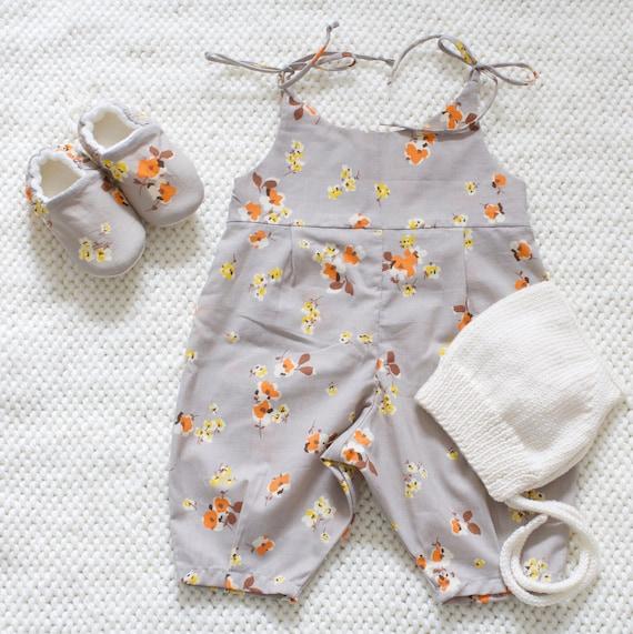 Summer Romper, soft floral cotton lawn