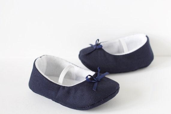 baby girl shoe, baby shoe ballet flat, navy baby girl shoe, girls shoe, baby ballet flats navy satin bow