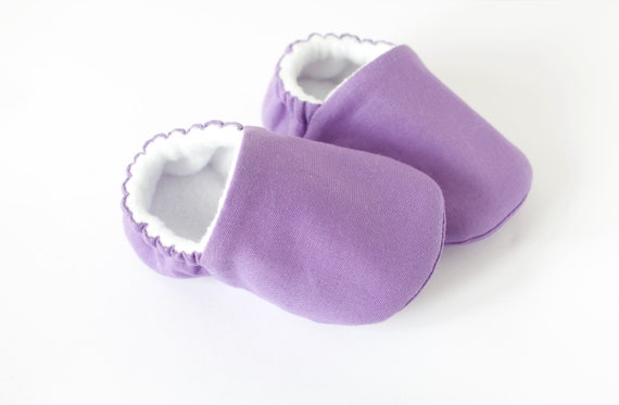 Baby shoes, baby shoes girl, baby girls shoes, Purple cotton baby shoes, toddler girls shoes, purple baby shoes