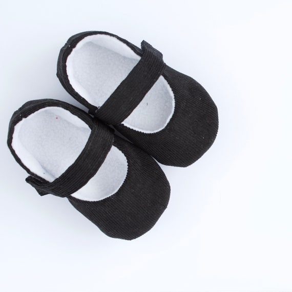 Baby shoes, baby girls shoe, baby girls, baby shoes girls, black soft cotton cord MaryJane pre walker and toddler shoes