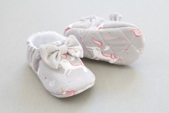baby girls shoes, baby shoes girls, unicorn baby girls shoes with quilted sole, soft sole baby shoes, baby shower gifts.