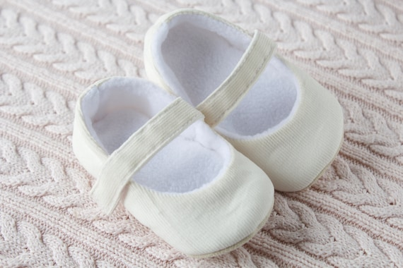 ivory soft cotton cord MaryJane pre walker and toddler shoes