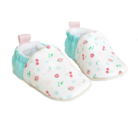 Strawberry & Cherry baby summer shoes