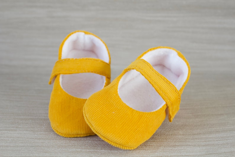 e97ea8ea888fe Baby shoes, baby girl shoes, Mustard shoes, baby Mary Jane, baby shoe,  Mustard corduroy Mary Jane girls shoe.