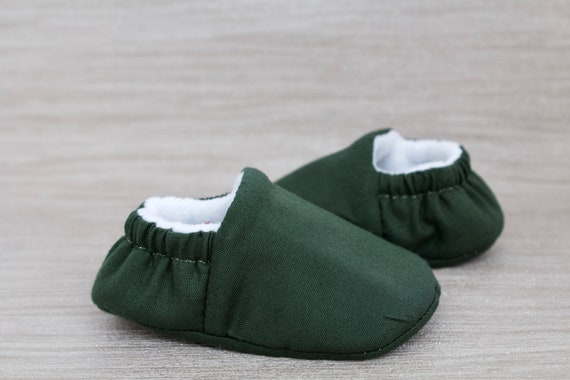 Baby shoes, baby shoes boy, baby boys shoes, olive green cotton baby shoes, toddler boys shoes, green baby shoes