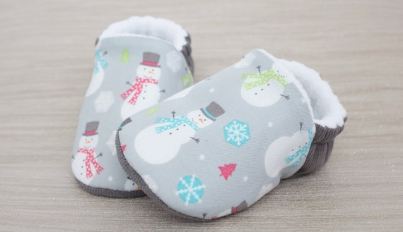 Baby shoes, Christmas shoes, baby girls shoe, baby boys shoe, Christmas baby shoe,snowman shoe grey