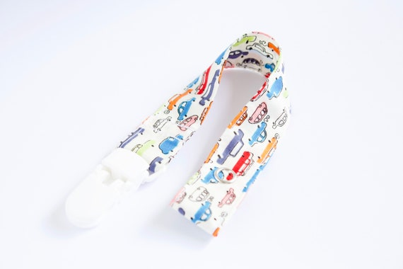 traffic print dummy clip/ pacifier clip
