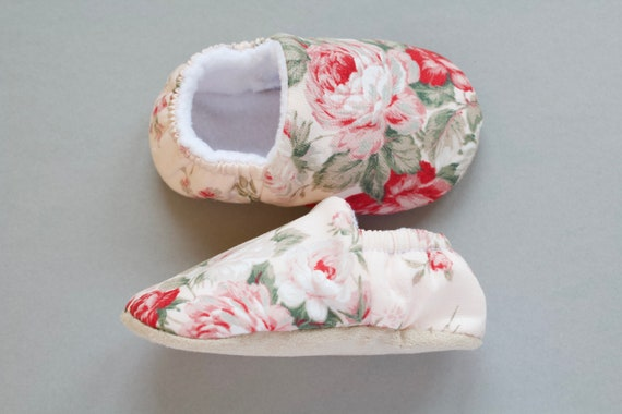 Baby shoe, baby girls shoe, baby shoe girls, large pink rose with Pink background Baby Girl Shoes Hand Made In England