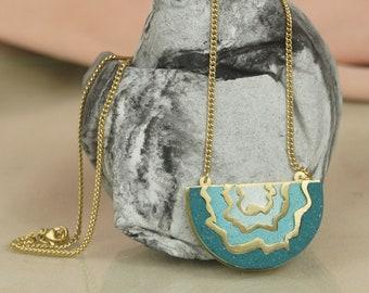 Lunar - Statement Jesmonite Necklace