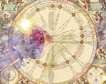 Cosmos, a printable junk journal kit, 26 pages celestial, stars, papers and ephemera