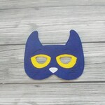 Pete the Cat Inspired Mask - Blue Cat Mask - Cat Mask - Cartoon Character Mask - Kid & Adult - Creative Play - Halloween Costume