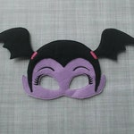 Felt Embroidered Mask - Vampire Girl- Kid & Adult - Creative Play - Halloween Mask