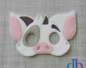Pig mask and tail sex costumes