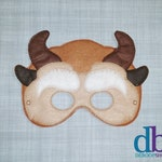 Beast Felt Embroidered Mask - Beauty and the Beast Inspired Mask - Kid & Adult - Pretend Play - Halloween Costume