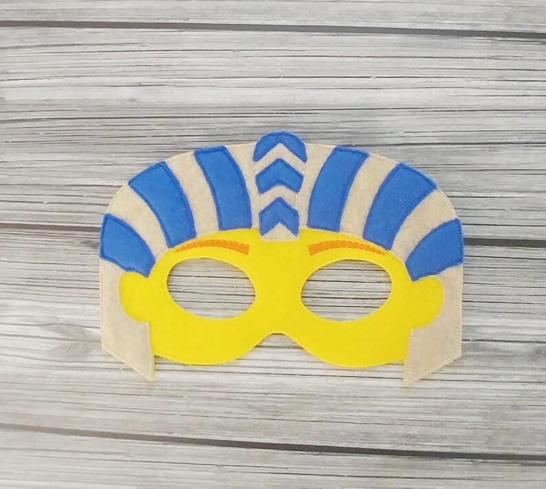Sphinx Felt Embroidered Mask  Egyptian Spinx Mask  Kid & image 0