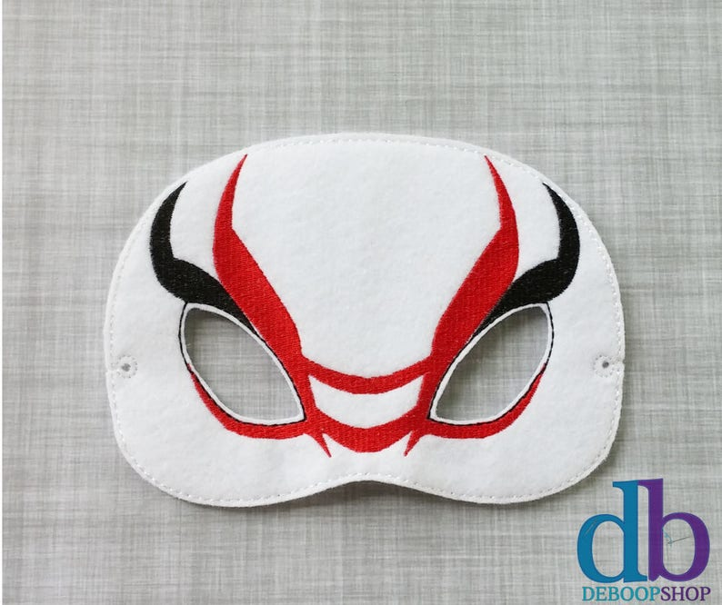 Kabuki Villain Felt Embroidered Mask  Kid & Adult  Pretend image 0