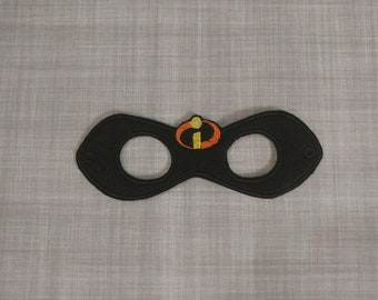 Felt Embroidered Mask - Incredibles Mask - Kid & Adult - Creative Play - Halloween Costume Active