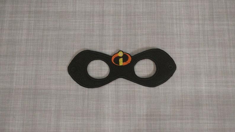 Felt Embroidered Mask  Incredibles Mask  Kid & Adult  image 0