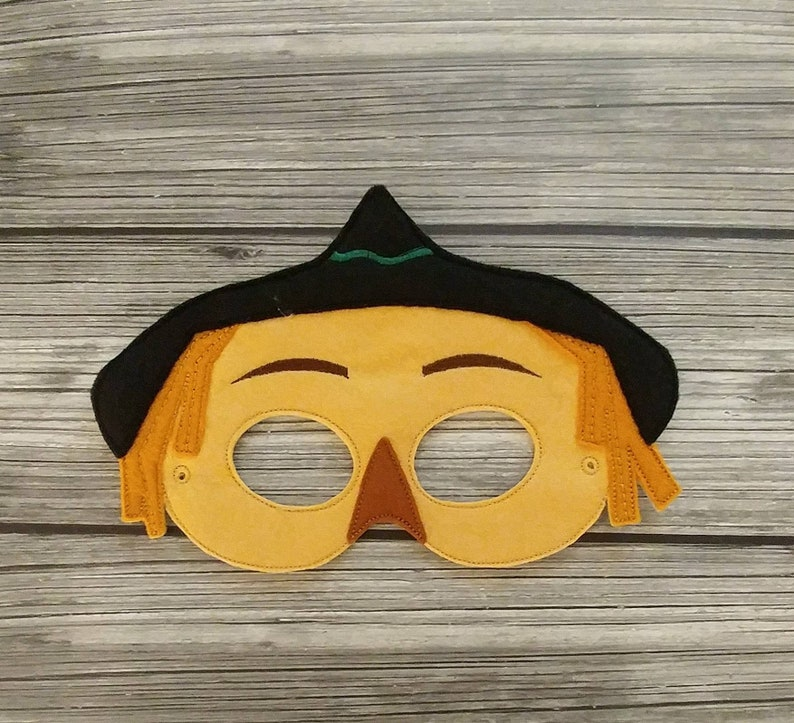 Halloween Costume Pretend Play Scarecrow Felt Embroidered Mask Kid /& Adult