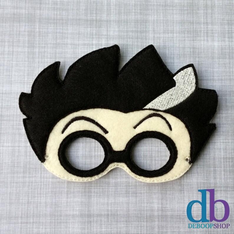 Felt Embroidered Mask  Mad Scientist Mask  Kid & Adult  image 0