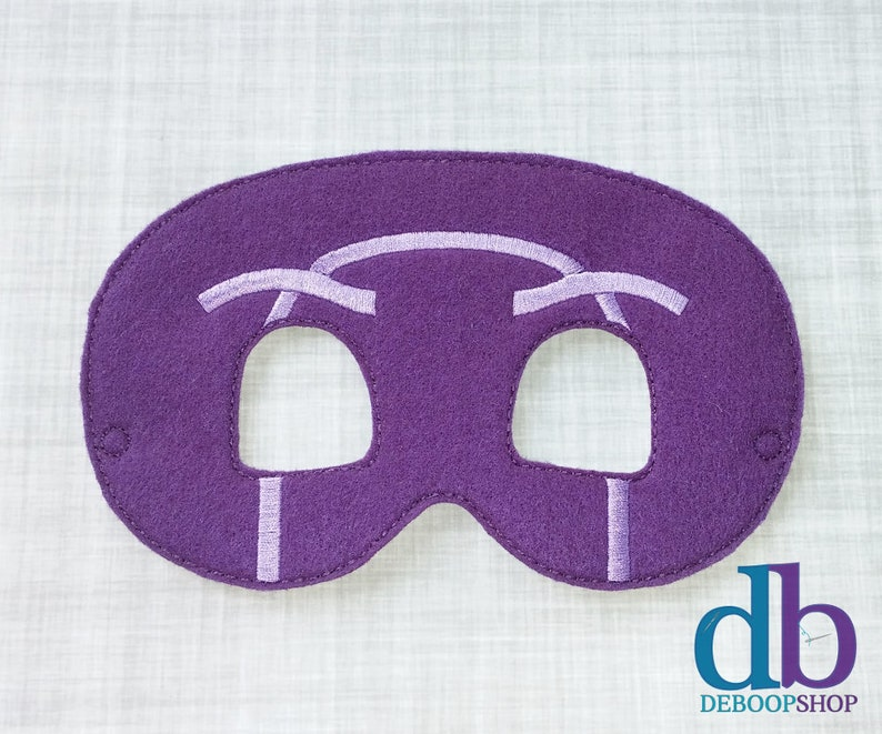 Felt Embroidered Mask  Ninjalino Mask  Kid & Adult  Pretend image 0