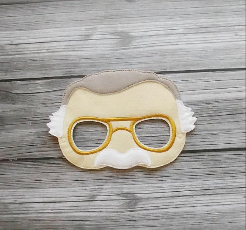 Stan Lee Inspired Felt  Embroidered Mask  Kid & Adult  King image 0