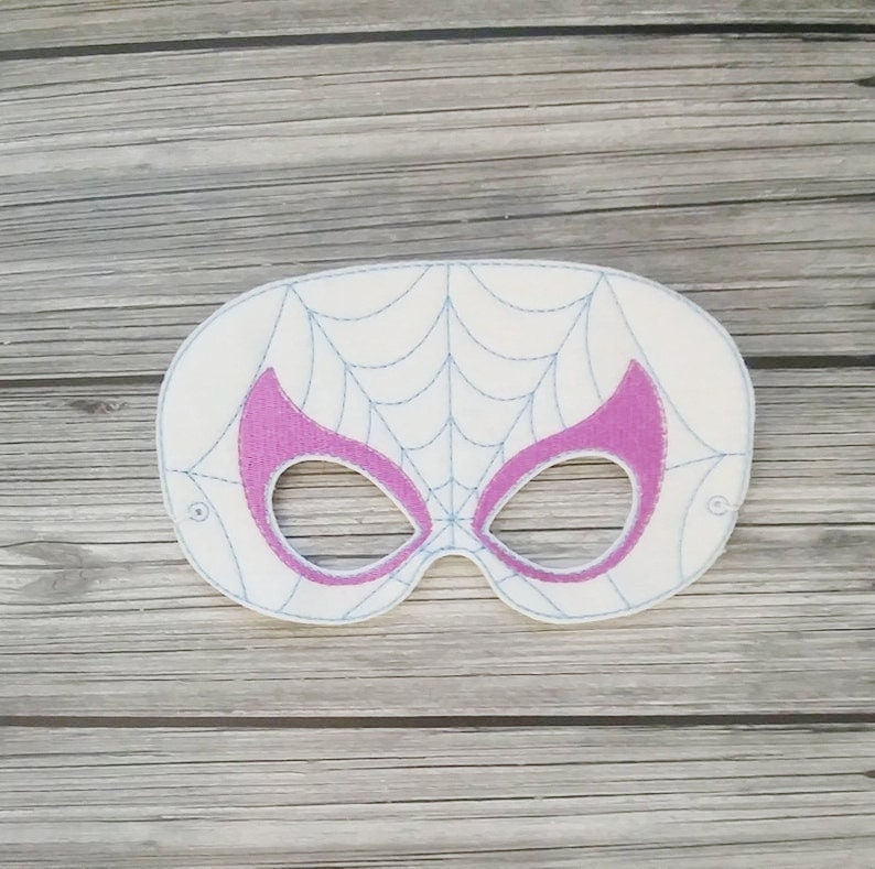 Spider Woman Felt Play Mask  Spider Gwen Mask  Pretend Play image 0