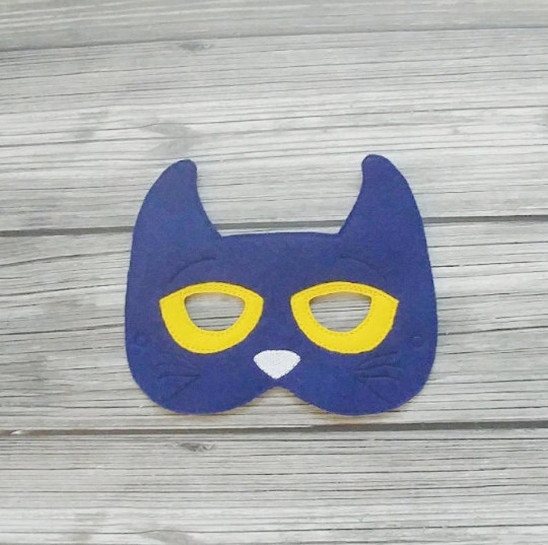 Pete the Cat Inspired Mask  Blue Cat Mask  Cat Mask  image 0