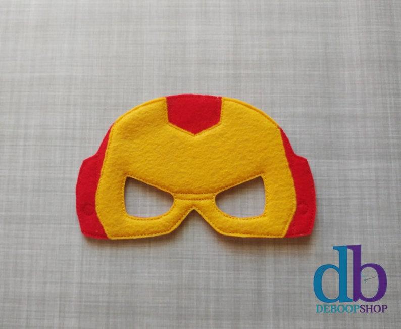Iron Hero Felt Embroidered Mask  Kid & Adult  Pretend Play  image 0