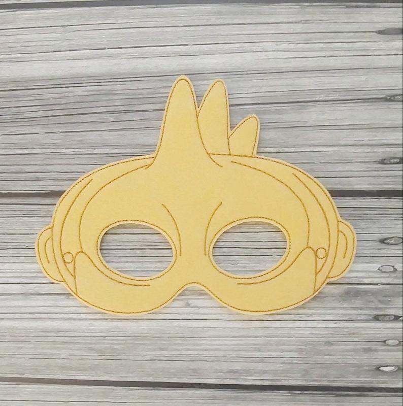 Spiked Monster  Beetlejuice Felt Embroidered Mask  Cosplay  image 0