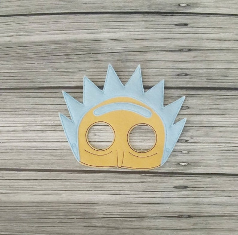 Rick Felt Play Mask  Mad Scientist Mask  Pretend Play Mask  image 0