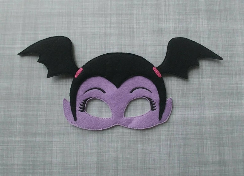 Felt Embroidered Mask  Vampire Girl Kid & Adult  Creative image 0