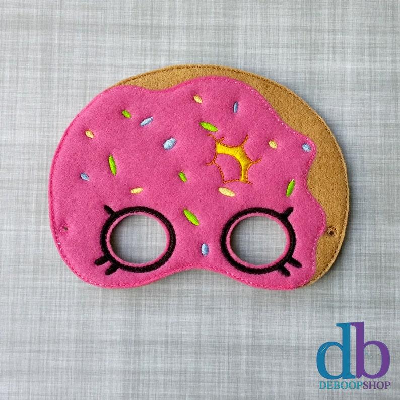 Felt Embroidered Mask  Donut Mask   Kid & Adult  Creative image 0
