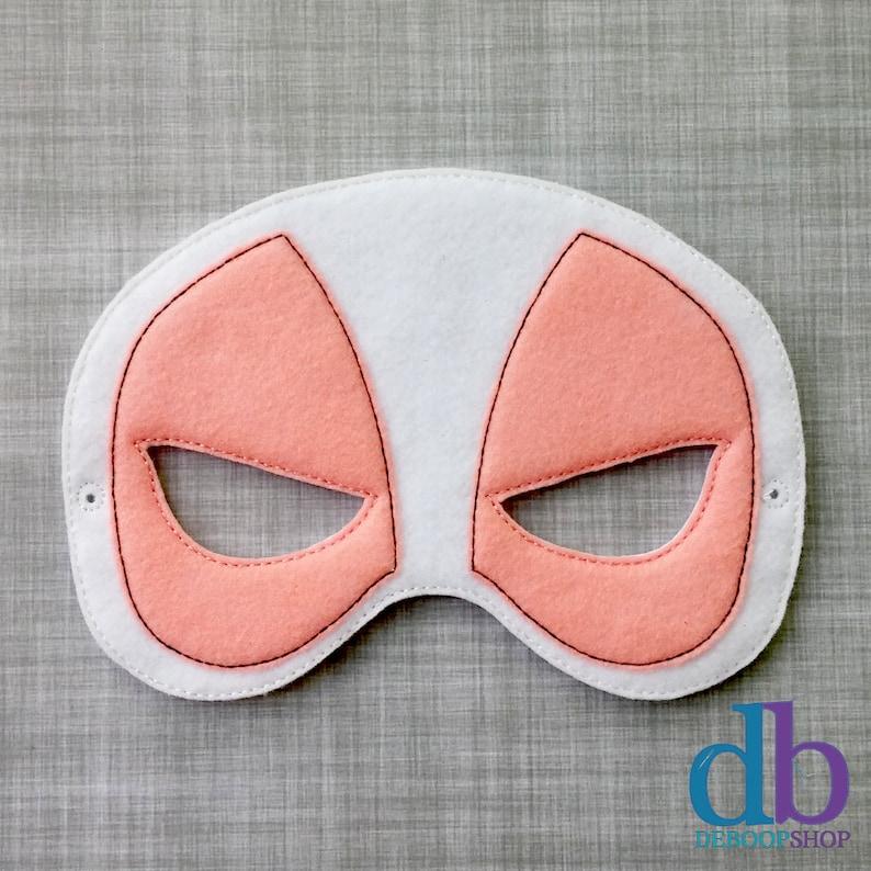 Girl Felt Embroidered Mask  Miss Pool Mask  Kid & Adult  image 0