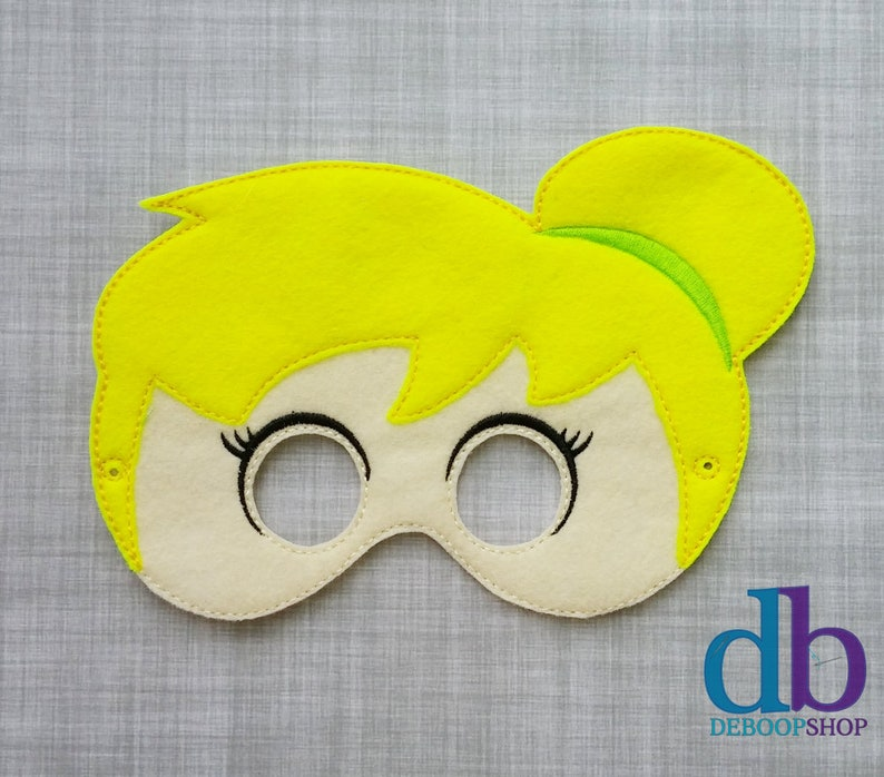Fairy Inspired Felt Embroidered Mask  Kid & Adult  Pretend image 0