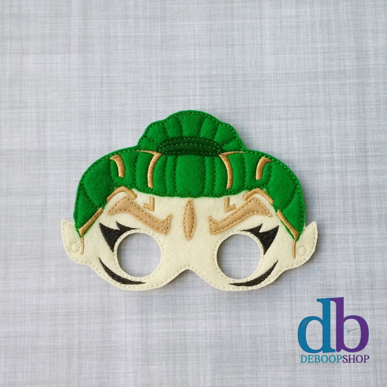 Rita Repulsa Felt Embroidered Mask  Green Power Ranger Mask  image 0