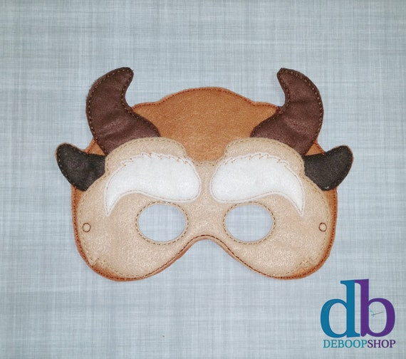 Beast inspired felt mask for dress up or Halloween Costume toddler child and adult sizes to order