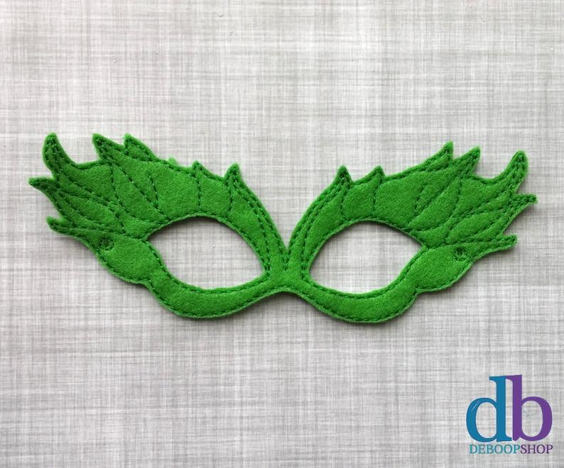 Felt Embroidered Mask  Poison Ivy Mask  Kid & Adult  image 0