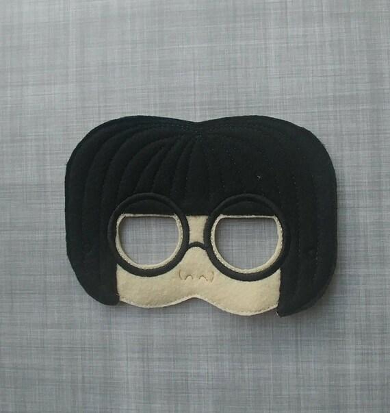 Edna Mode Inspired Mask Incredibles Inspired Mask Fashion Etsy