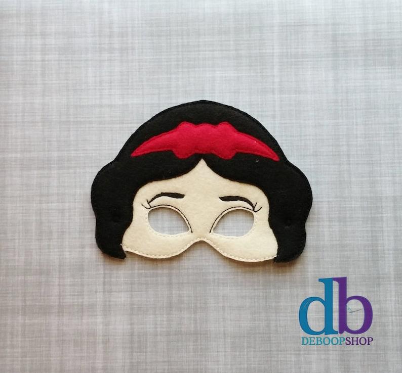 Snow White Inspired Felt Embroidered Mask  Kid & Adult  image 0