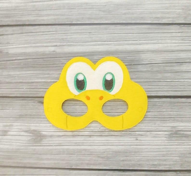 Koopa Troopa Embroidered Felt Mask Mario Turtle Mask  Kid & image 0