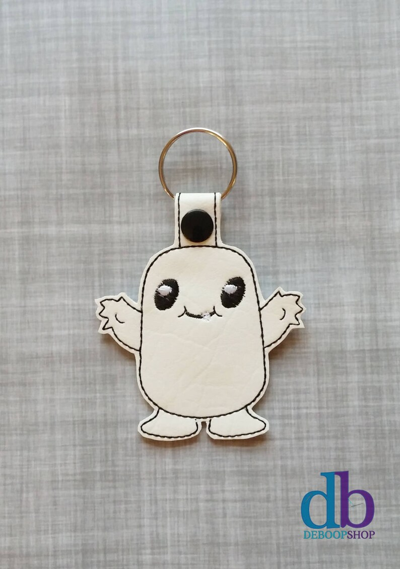 Embroidered Keychain  Adipose  Embroidered Keychain  Zipper image 0