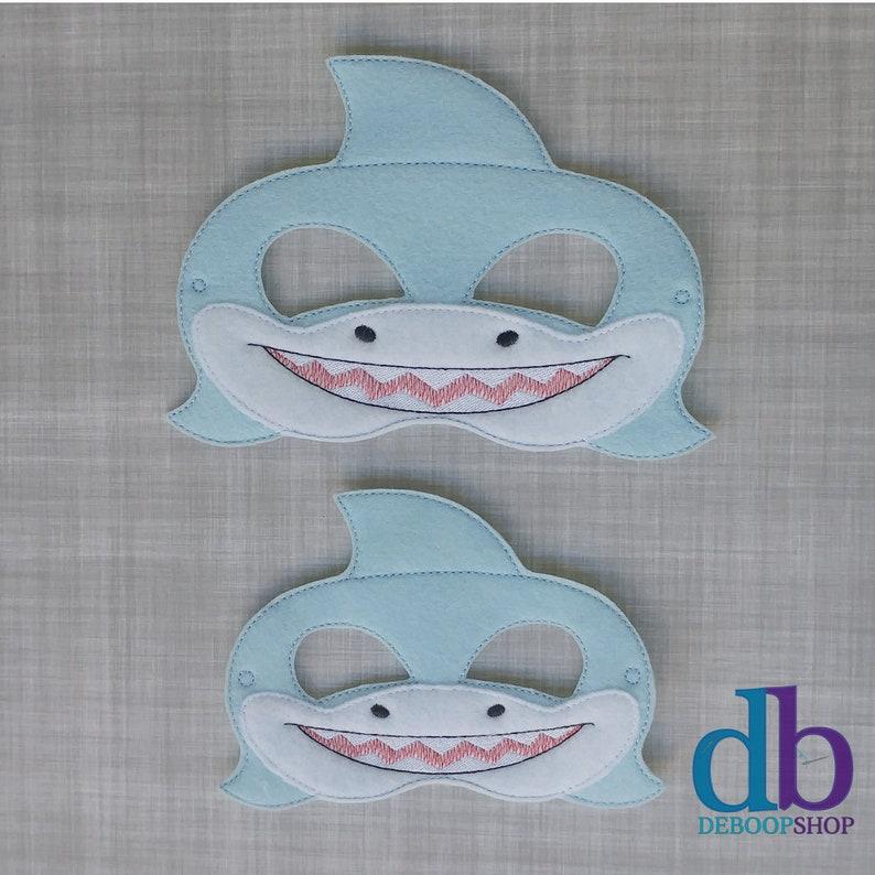 Gray Shark Mask Shark Week Pretend Play Halloween Costume Kid /& Adult Blue Shark Mask