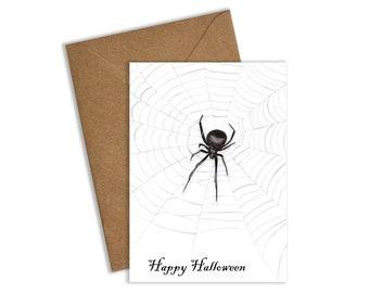 Spider Halloween Card, Spider Card, Halloween Card, Halloween Cards, Happy Halloween